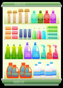 Waschmittelregal